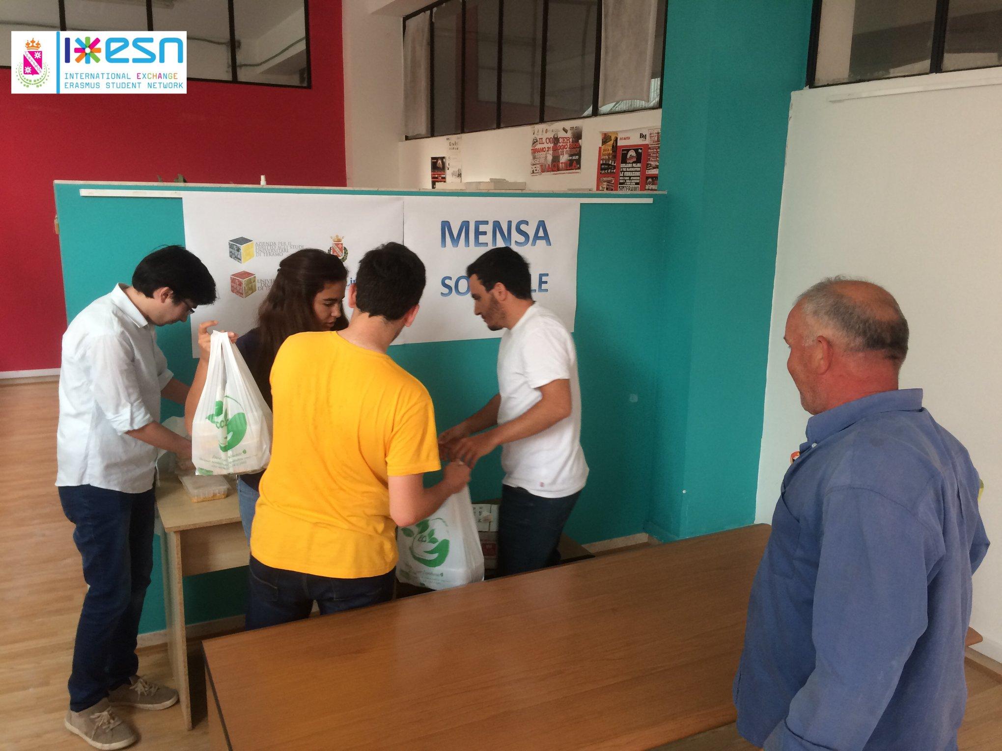ESN Teramo - Erasmus Student Network - Mensa Solidale