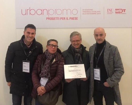 Il Direttore Antonio Sorgi, il vice-presidente dell'ADSU Lucia Verticelli e i due tecnici dell'Azienda Marco Di Filippo e Severino Di Donato
