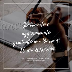 Scorrimento Borse Studio 2018 - 2019
