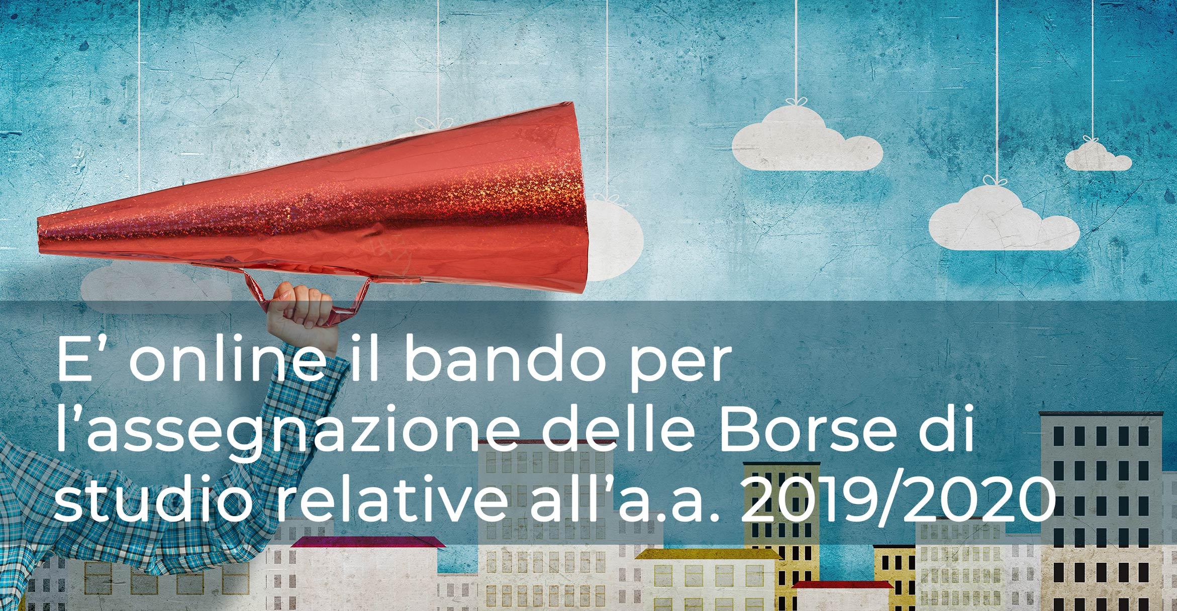 Bando Borsa di studio 2019-2020
