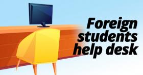 Foreign students help desk